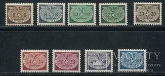 1940 Рейх Генералгубернаторство орлы малый формат формат  полная серия