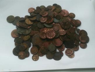 Монеты на чистку 200 штук
