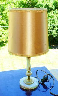 - настольная лампа ОНИКС латунь - с абажуром Германия 56,5 см