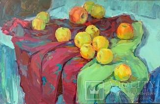 Яблоки, 60*40, масло, подпись автора