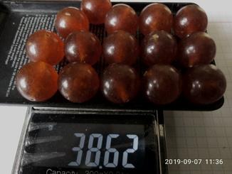 Янтарь шар 38.62  грамм