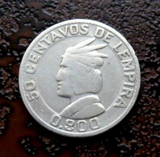50 сентаво Гондурас 1937 серебро