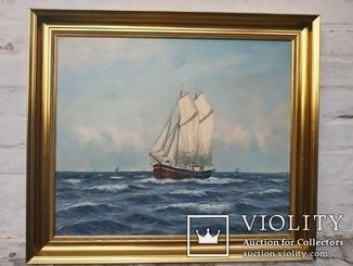 Морской пейзаж/61*71/Svend Aage Arvidsen (1908-1981)
