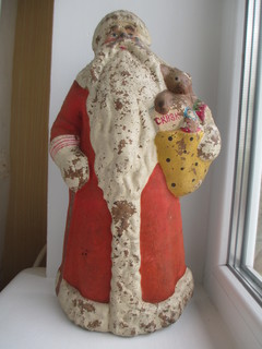 Дед Мороз под елку,пресс опилки-восстановление,реставрация.став