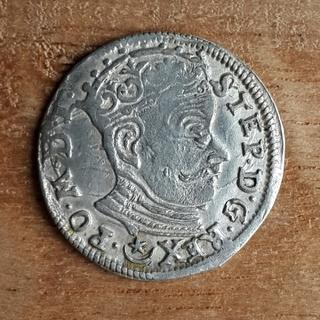 Трояк 1582г. Стефана Батория R1 м.д.Вильно