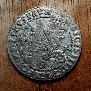 Коронный орт 1623г., Сигизмунда 3, в штемпельном блеске