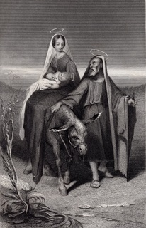 Старинная гравюра. 19 век. Религиозная серия. (21,5х15см.).
