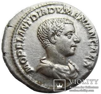Денарий Диадумениан 218 г. н.э.