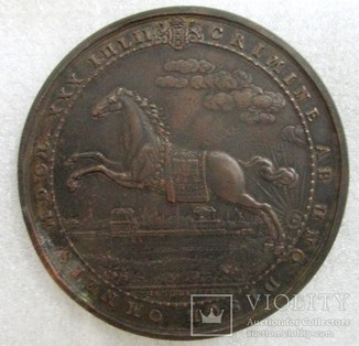 Медаль на смерть принца Оранского Вильгельма II - медная копия