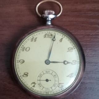 Старые часы, серебро, 1935