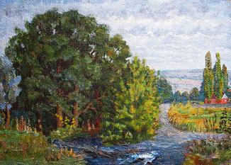 Горобец П.М. (1905 г.р.). «У реки»