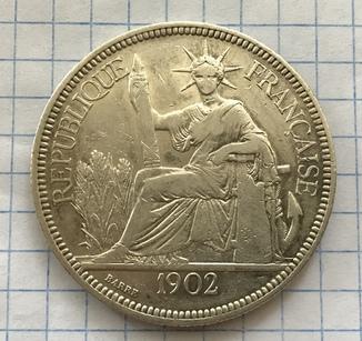 1 пиастр 1902г ИндоКитай