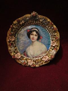 "Портретная миниатюра ""Молодая красавица"", Francois Martin-Kavel (1861–1931)"
