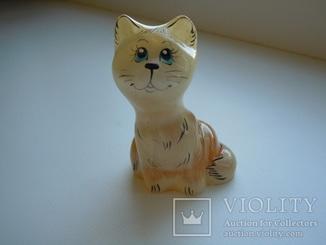 Скульптура фигура Кошка, камень селенит , ручная работа 28