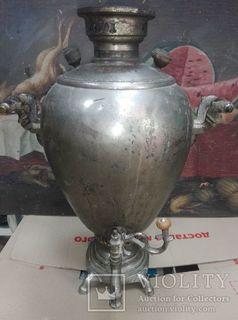 Самовар Яйцо 6,5 л Братья Шемарины никель