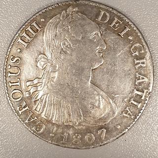 8 реалов 1807 год Мексика Карлос 4