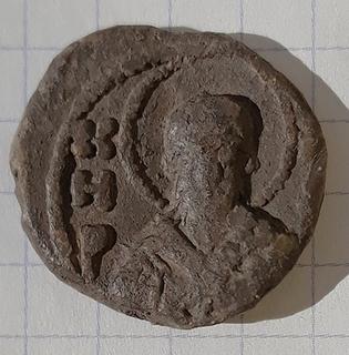 Вислая печать князь Всеволод (Кирилл)Ольгович Святой Кирилл погрудно княжеский двузуб