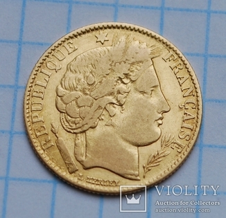 10 франков 1851 года.