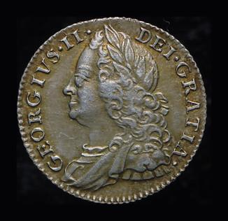 Великобритания 6 пенсов 1758 серебро