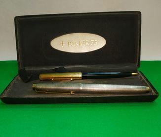 Перьевая ручка Parker 75 sterling silver+карандаш Parker 61, золото , серебро, позолота