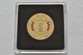 Монета с камнями