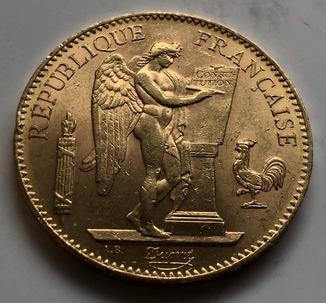 100 франков 1911 год Франция золото 32,23 грамма 900'