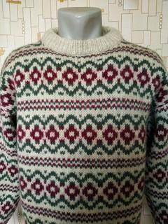 Теплый зимний свитер STOBI(шерсть сертификат WOOLMARK) Дания p-p XL