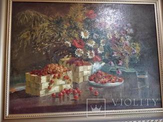 """""""Осінні квіти"""" Австро-Венрія (автор невідомий) 1885р"""