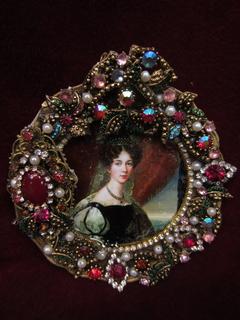 Портретная миниатюра Королева Швеции и Норвегии Жозефина Лейхтенбергская (1807-1876)