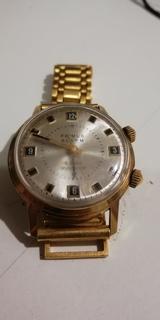 Часы-будильник PRIMUS ALARM, позолочен, экспорт, СССР... ау 20.