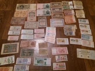 Колекція паперових грошей, 75 шт.