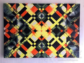 Геометрична абстракція. Акварель/лак, підрамник. 70х50 см. Ю.Смаль