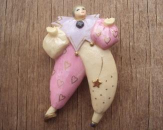 Брошь клоун или жонглёр, 1980е.