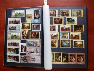 Альбом марок 400+штук домашня колекція