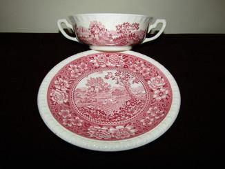 Бульонница бульонная чаша + пирожковая тарелка клеймо Villeroy & Boch Германия
