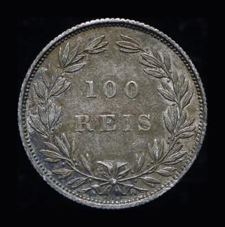 Португалия 100 рейс 1889 серебро