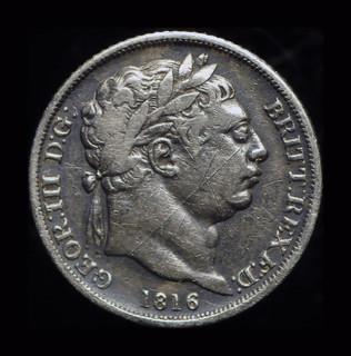 Великобритания 6 пенсов 1816 серебро