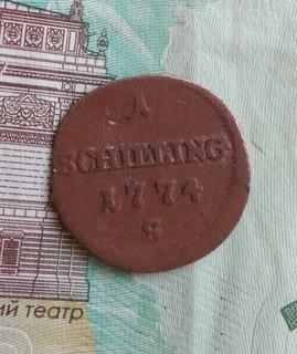 1 шиллинг 1774 года для Галиции и Лодомерии