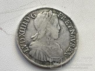 Монета Франция 1/2 экю Серебро 1651