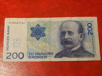 Банкнота . Норвегия 200 крон. 1994 года.