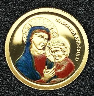 1 доллар Палау. Божья Матерь. (1/25 oz)