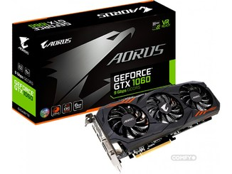 Видеокарта Gigabyte PCI-Ex GeForce GTX 1060 Aorus 6GB GDDR5