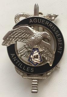 Франция. Полковой знак. Тренировачная база 33-го пехотного полка марин на Антильских остр.