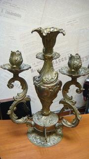 Канделябр, бронза, 5,2 кг