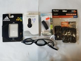 Фитнес трекер, чехол, очки для плавания, крепление для GoPro (5 штук) Energetics код 20
