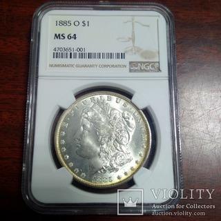 1 доллар 1885 O NGC MS64