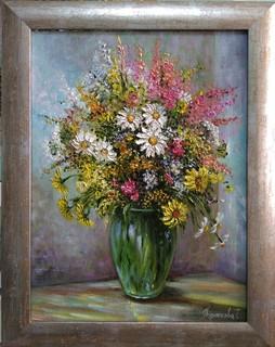 Картина Полевые цветы натюрморт Короткова Т.Г. 30х40см холст, масло