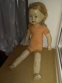 Кукла пресс.опилки паричковая 47см.
