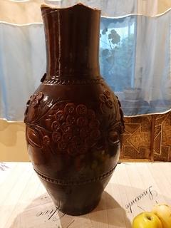 Глиняная ваза. Ручная работа.