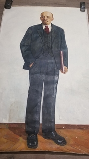 Ленин холст, масло, размер 2×1,5 метра